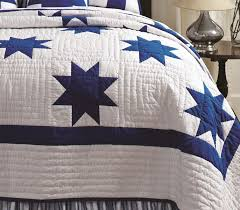 Blue Country Star Patch Quilt & Chesapeake Blue Country Star Patch Quilt Adamdwight.com