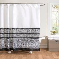 Black And White Shower Curtain Also Long Solid Regarding Bathroom
