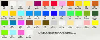 Fine Coat Paint Color Chart Air Opaque
