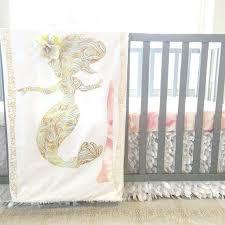 baby nursery mermaid baby nursery blanket crib quilt decor girl decorations shower