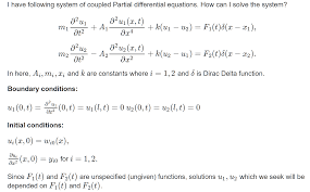 solution of system of coupled partial diffeial equations matlab answers matlab central