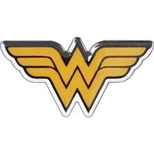 Wonder Woman Logo Chrome Colour Premium Car Emblem
