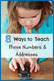 Address By Phone 8 Ways To Teach Children Their Address And Phone Number