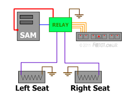 installing heated seats depending on whether or not you have just the relay module or the additional connector as well you will notice that each terminal is numbered