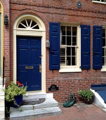 blue door house. If You\u0027re Working With A Red/brown Brick House Fantastic Door Color Choice Is This Bold Royal Blue. I Love The Way Creamy White Trim Gives Depth To Blue R