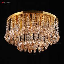 50cm flush mount modern ceiling lights k9 crystal ceiling lamp bedroom lamp living room lights fashion ceiling lighting crystal in ceiling lights from