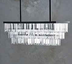 odeon glass fringe rectangular chandelier chandeliers