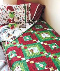 Free Christmas Bed Quilt Patterns Christmas Bed Quilt Set ... & ... Christmas Bedroom Comforters Christmas Grinch Nightmare Before Christmas  Bed Comforter Christmas Bed Quilt Set ... Adamdwight.com