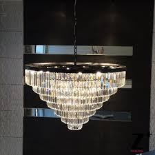 odeon crystal glass fringe 3 tier