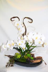 faux orchid garden