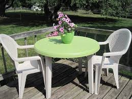 plastic patio tables and chairs