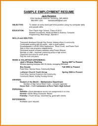 Sample Of Resume For Employment Sample Employment Resume Luxury Job Application Resume Sample Cv 2