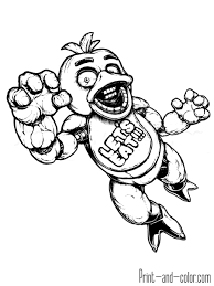 Fnaf For Kids Coloring Pages With Five Nights At Freddys Coloring