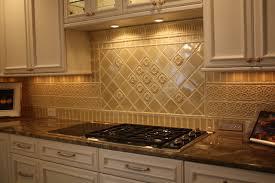 Glazed Porcelain Tile Backsplash traditional-kitchen
