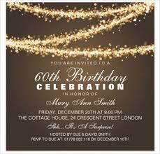 Interior 60th Birthday Invitations Free 60th Birthday Invitations