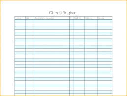 Check Ledger Printable Ledger Template Blank Paper Business Check Register Excel