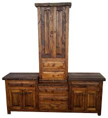 The Tower Rustic Double Sink Bathroom Vanity Rustic Bathroom Vanities And Sink Consoles By Rusticmanhomedecor Houzz