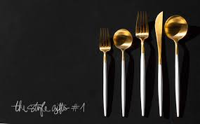 the style gifts gift guide cutipol gold silverware cutlery garance dore photos
