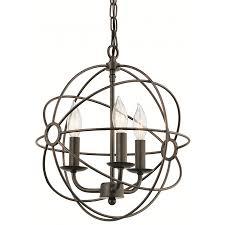 kichler vivian coffee with copper accents craftsman single crystal cage standard indoor pendant
