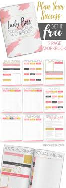 Printable Business Plan FREE Printable Lady Boss Business Plan Workbook 22
