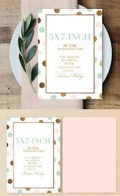 Printable Invitation Card Designed Blank Card Digital Card Pink Card Gold Glitter Card Blank Card Blank Invitation Card Mint Card Design