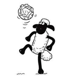 Small Picture Shaun the Sheep Juggling a Football Coloring Page Shaun the Sheep