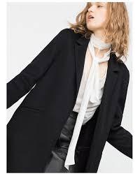 Haoduoyi Size Chart Haoduoyi Womens Medium And Long Woolen Coat Loose Coat Black