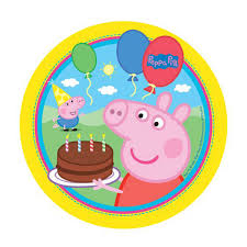 Peppa Pig Party Round Edible Image