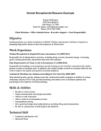 receptionist skills for resume receptionist sample x cover letter gallery of examples of resumes for receptionist