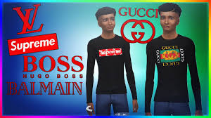 Sims 2 Designer Clothes Downloads The Sims 4 Designer Hypebeast Clothes Gucci Supreme Hugo Boss Balmain Cc Download