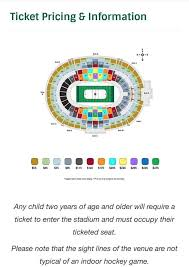 Section Map And Pricing For The 2020 Winter Classic