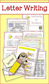 Friendly Letter Writing Graphic Organizers Prompts And