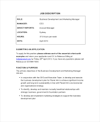 9+ Marketing Manager Job Description - Free Sample, Example, Format ...