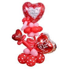 happy valentine s day balloon arrangement