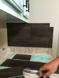 Vinyl Kitchen Backsplash Our 40 Backsplash Using Vinyl Flooring