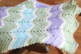 Chevron Crochet Blanket Pattern Interesting Easy Chevron Blanket Crochet Pattern Daisy Cottage Designs