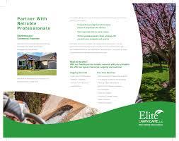 Lawn Care Brochure Elite Lawn Care Brochure 6 2 Abundant Marketing