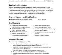Sample Cna Resume 19 Nursing Assistant Certified