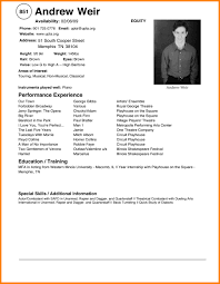 5 Acting Resumes Examples Cashier Resumes