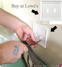 New, classy light switch covers from Lowe's make all the difference :) -  thehouseofsmiths