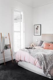 Stylist, Julia Treuel of Show Pony Interiors, has applied cool tones and a  classic  Pastel BedroomPink BedroomsGrey ...