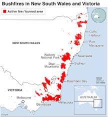 オーストラリア 火災 範囲