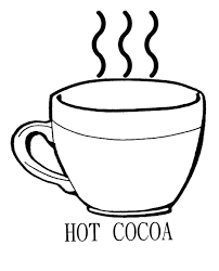 hot chocolate mug clipart. drinking hot chocolate cocoa coloring page mug clipart t
