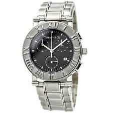 tiffany mens watch tiffany co atlas chronograph quartz watch for men in stainless steel