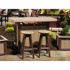 wood patio bar set. Patio Bar. Amish Made Poly Bar Set With 2 Stools Wood N