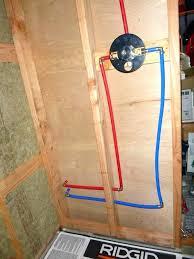 pex to shower valve installation shower mixing valve install shower mixing valve club how to plumb pex to shower valve installation