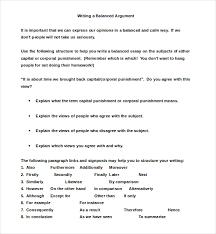 argumentative essay examples premium templates balanced argumentative essay example