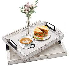 wood serving tray ottoman decorative