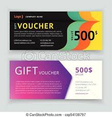 Gift Certificate Template With Logo Gift Voucher Template With Pattern