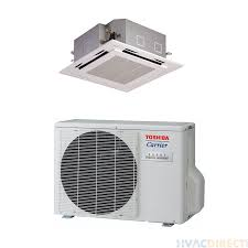 carrier 18 000 btu 20 5 seer single zone heat pump system ceiling cassette